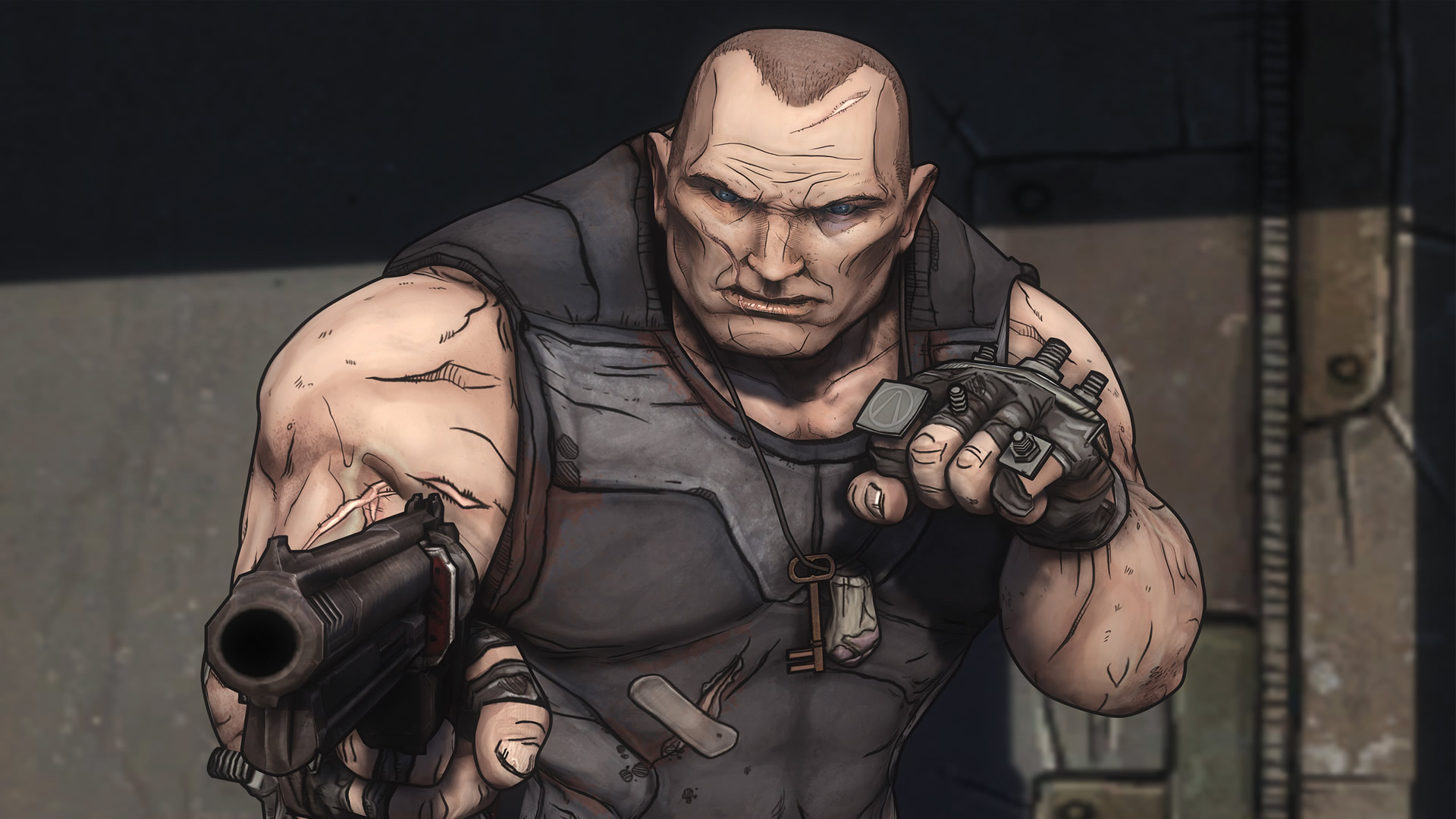 [Futuristic] Bringing life to a transhuman thug ... Borderlands Characters Brick