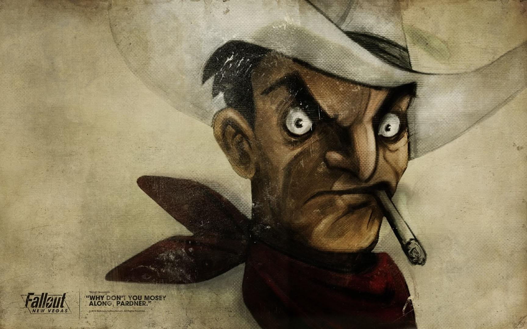 Cowboy With Cigarette