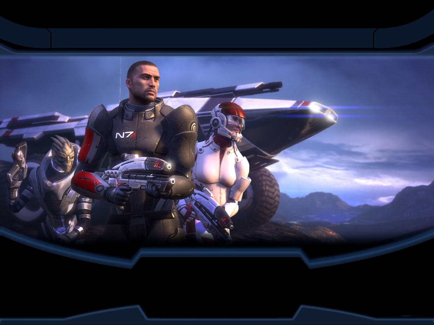 Ashley Garrus Shepard And All Terrain Armored Personnel Carrier M35 Mako