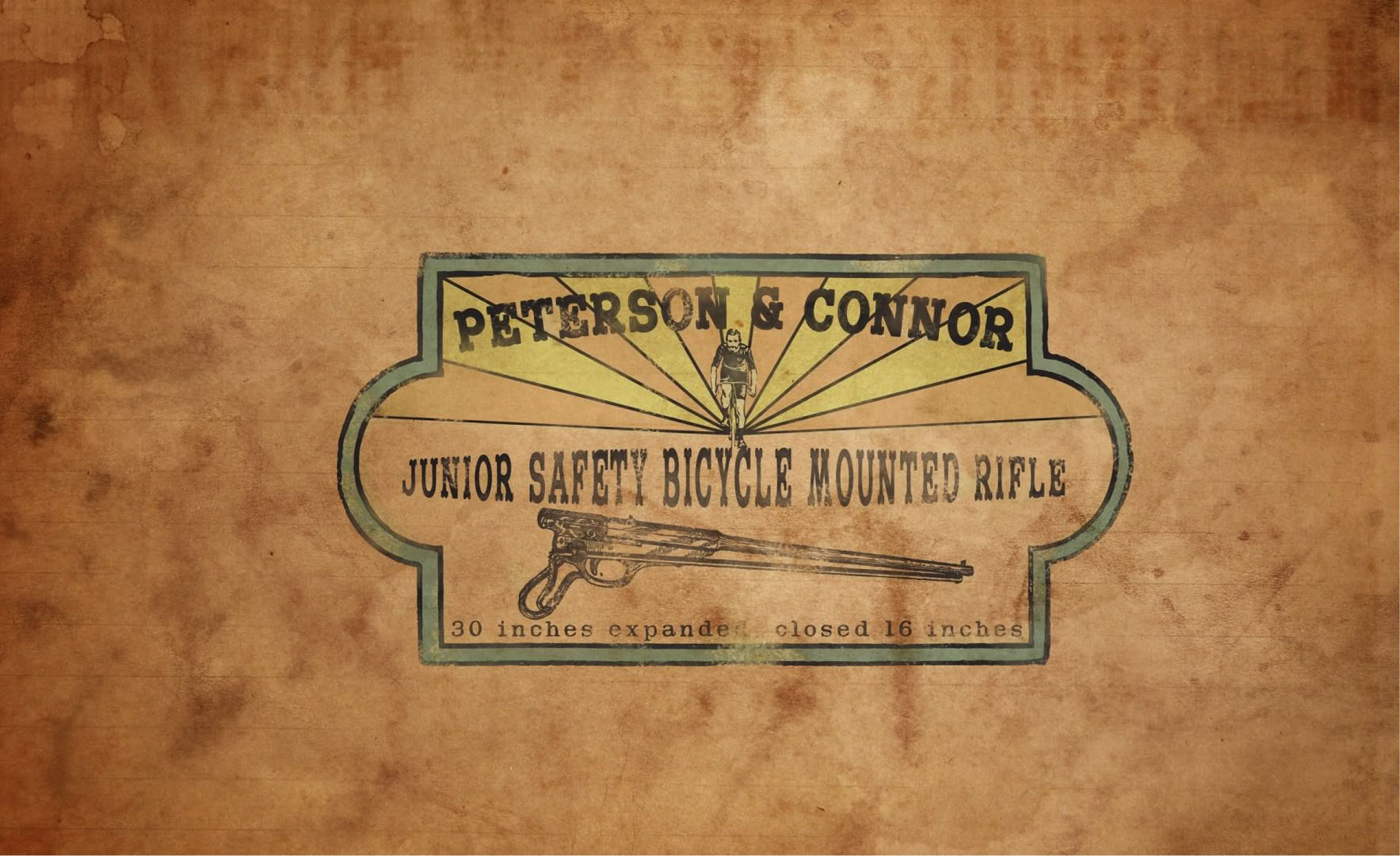 Peterson And Conner Bicycle Mounted Rifle Advert