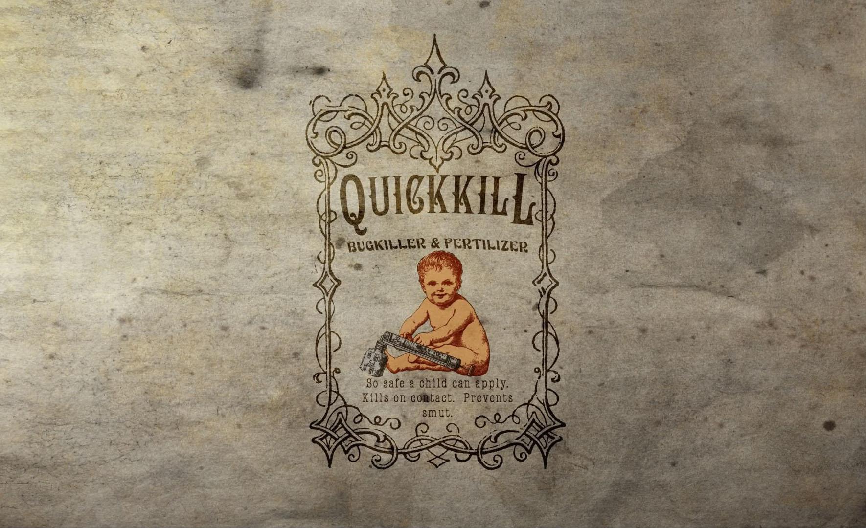 Quick Kill Bugkiller And Fertilizer Advert