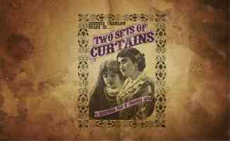 two sets of curtains advert