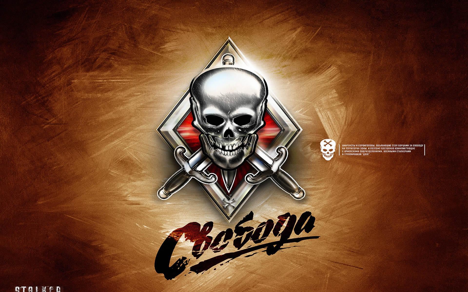Skull And Knives Badge
