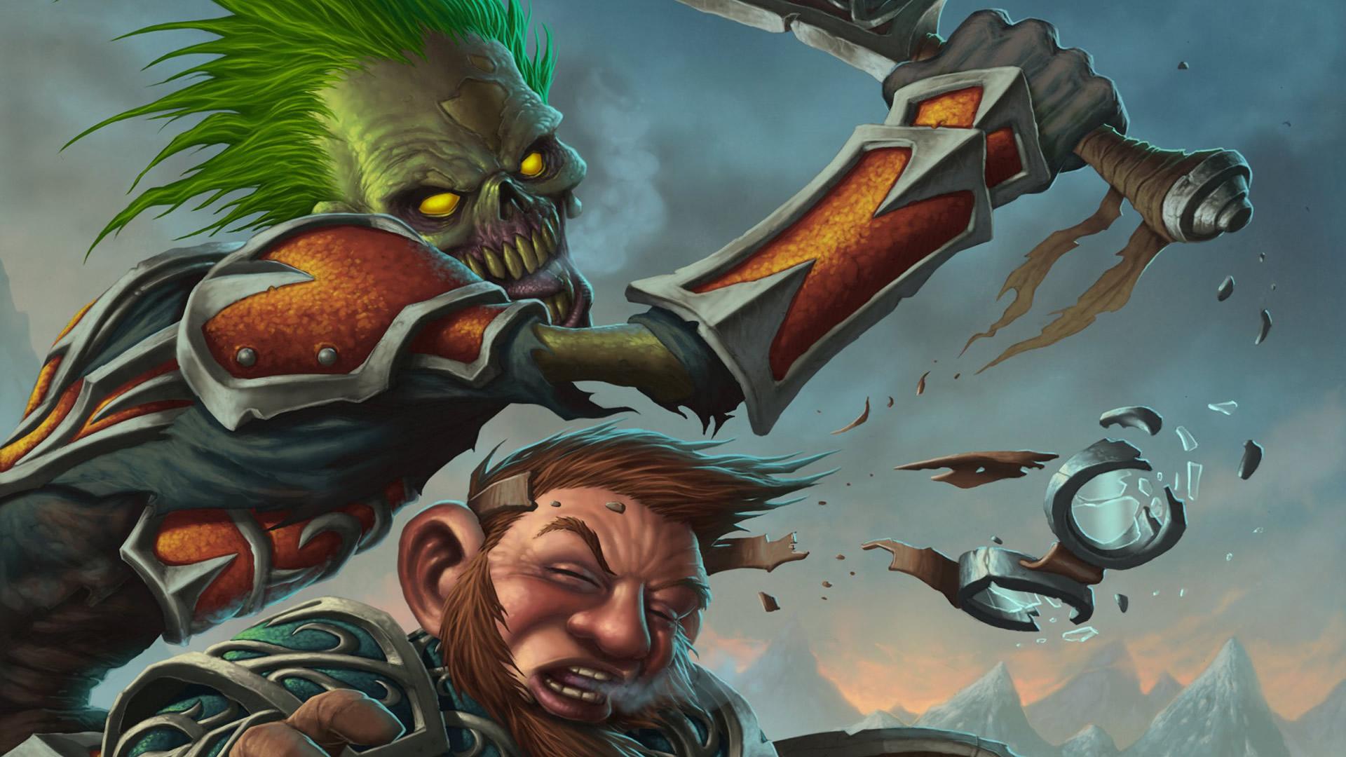 Zombie Knocking Dwarfs Goggles Off