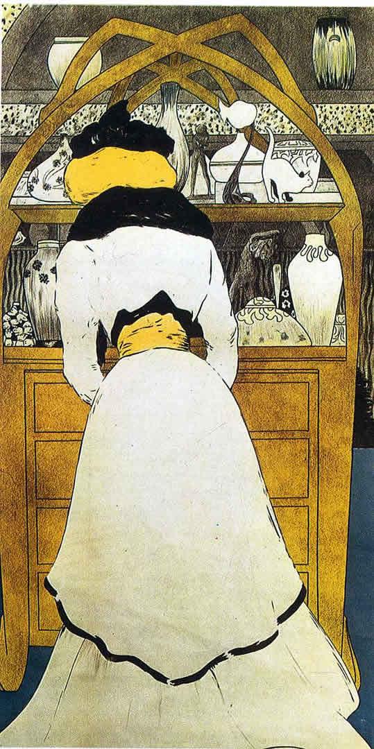 Lady Opening Drawer