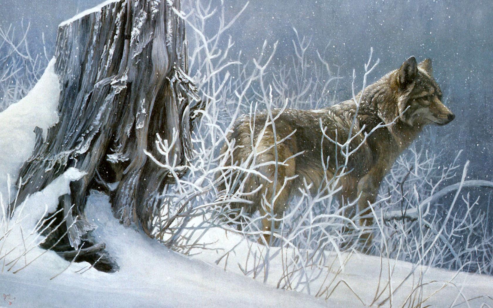 R Bateman Wolf Painting