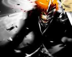 ichigo kurosaki soul reavep attacks with knife