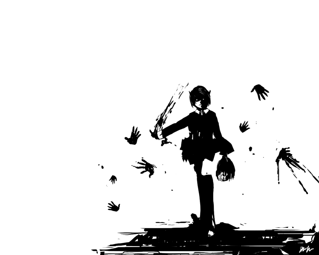 Lucy Silhouette With Severed Head