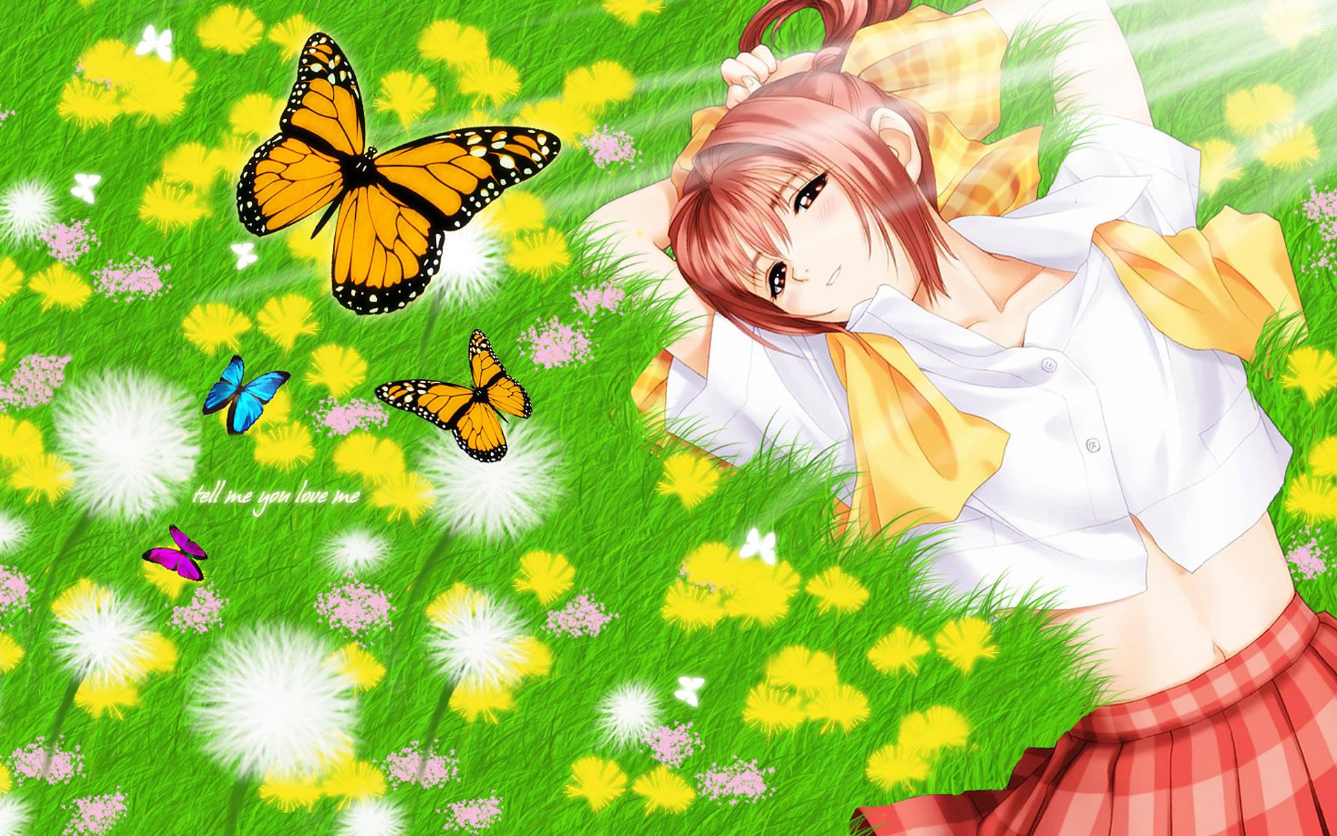 Butterflies On The Grass
