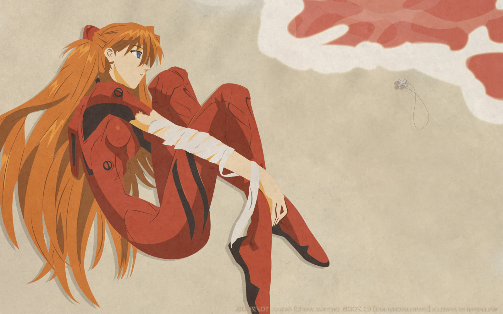 Asuka Curled Up In Foetal Position
