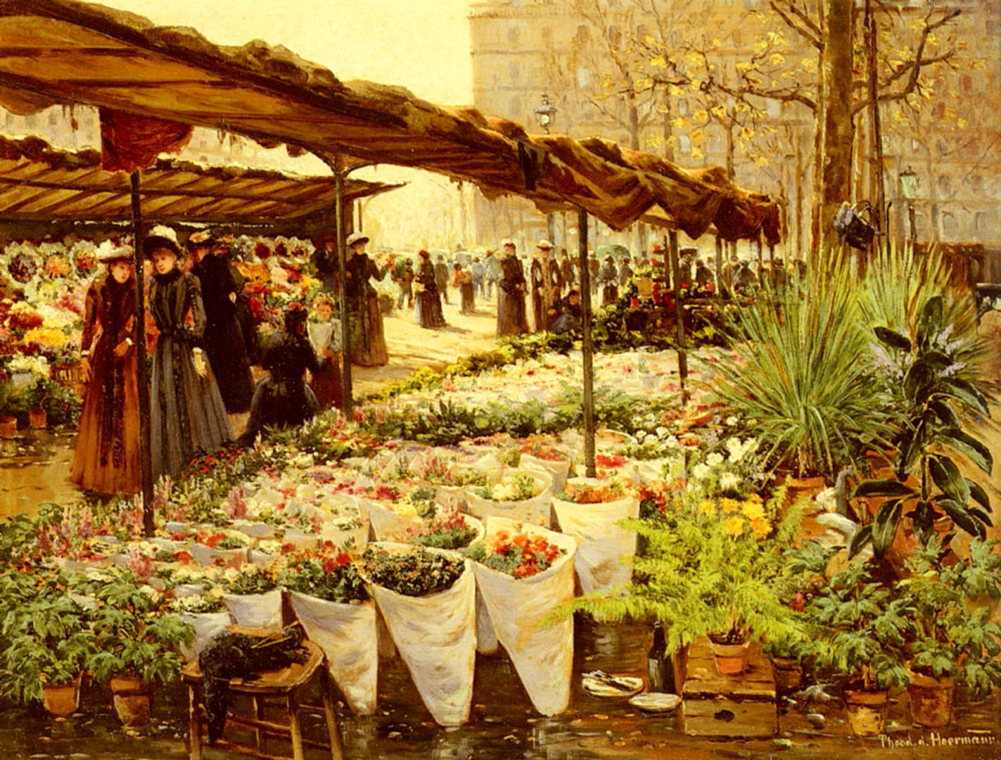 Flower Market At La Madeleine