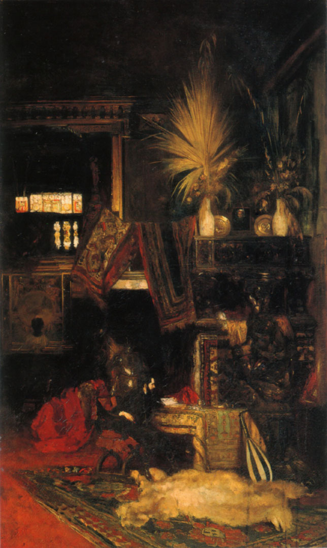 Hans Makart In His Studio