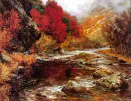a river in an autumnal landscape