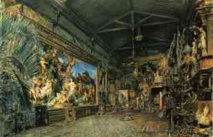 the studio before the auction