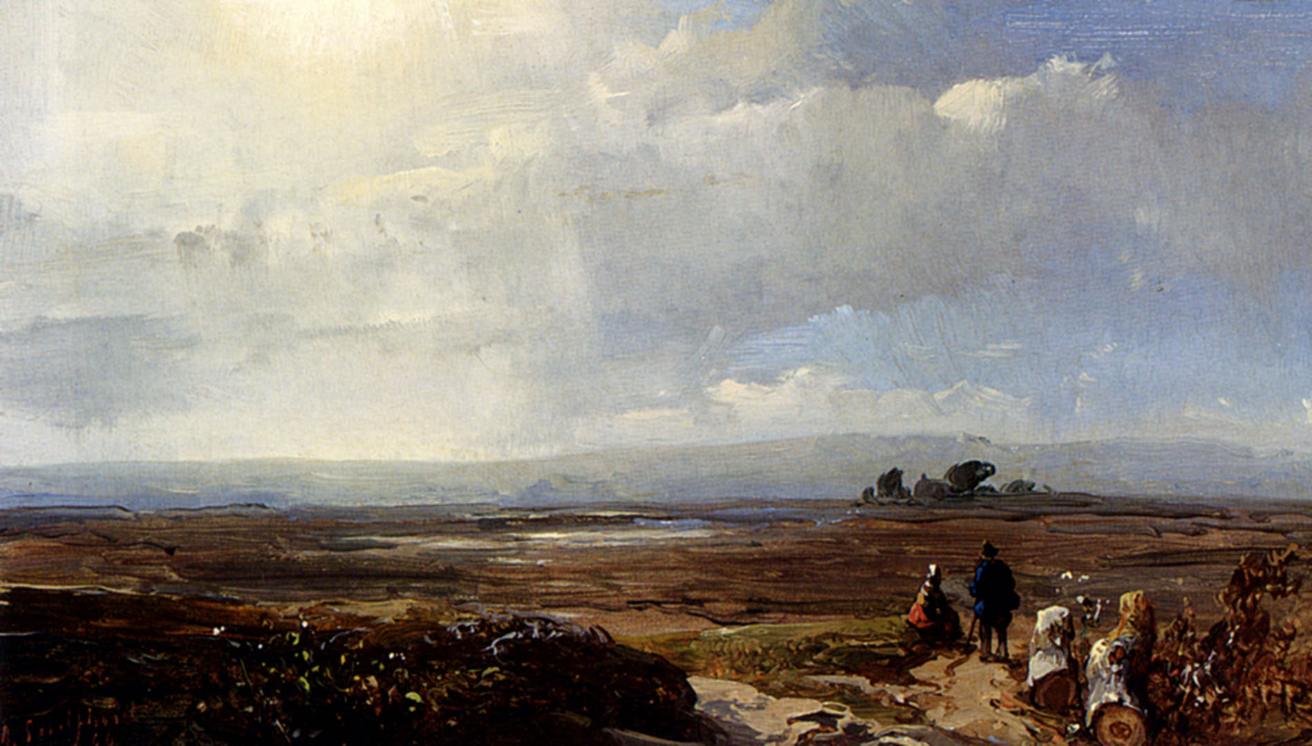 Travellers In An Extensive Landscape