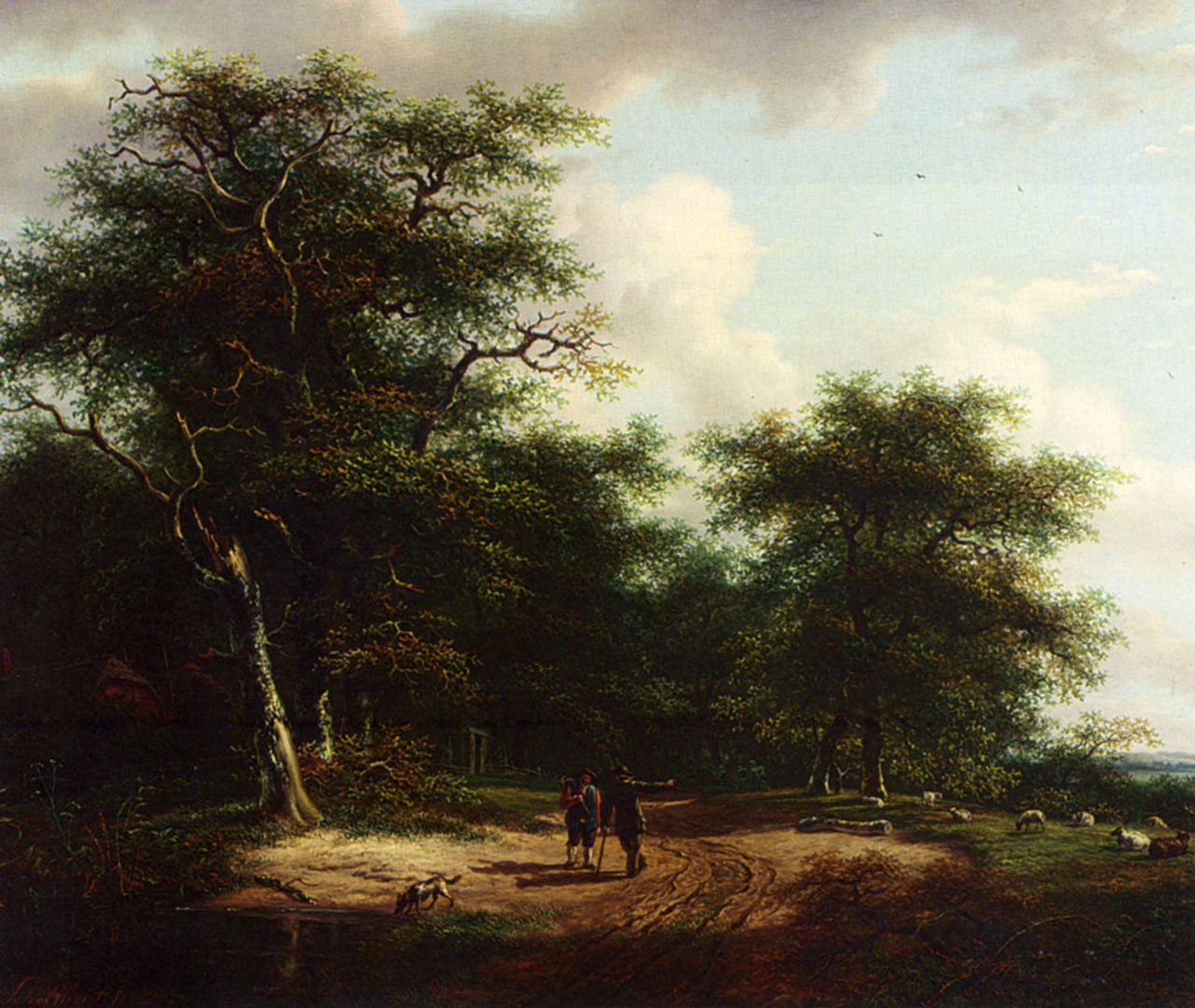 Two Figures In A Summer Landscape