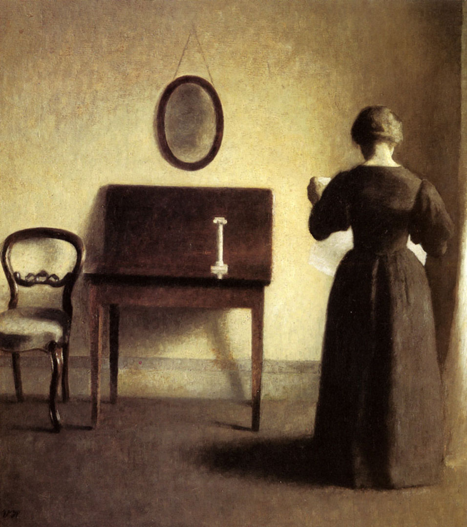 A Lady Reading In An Interior