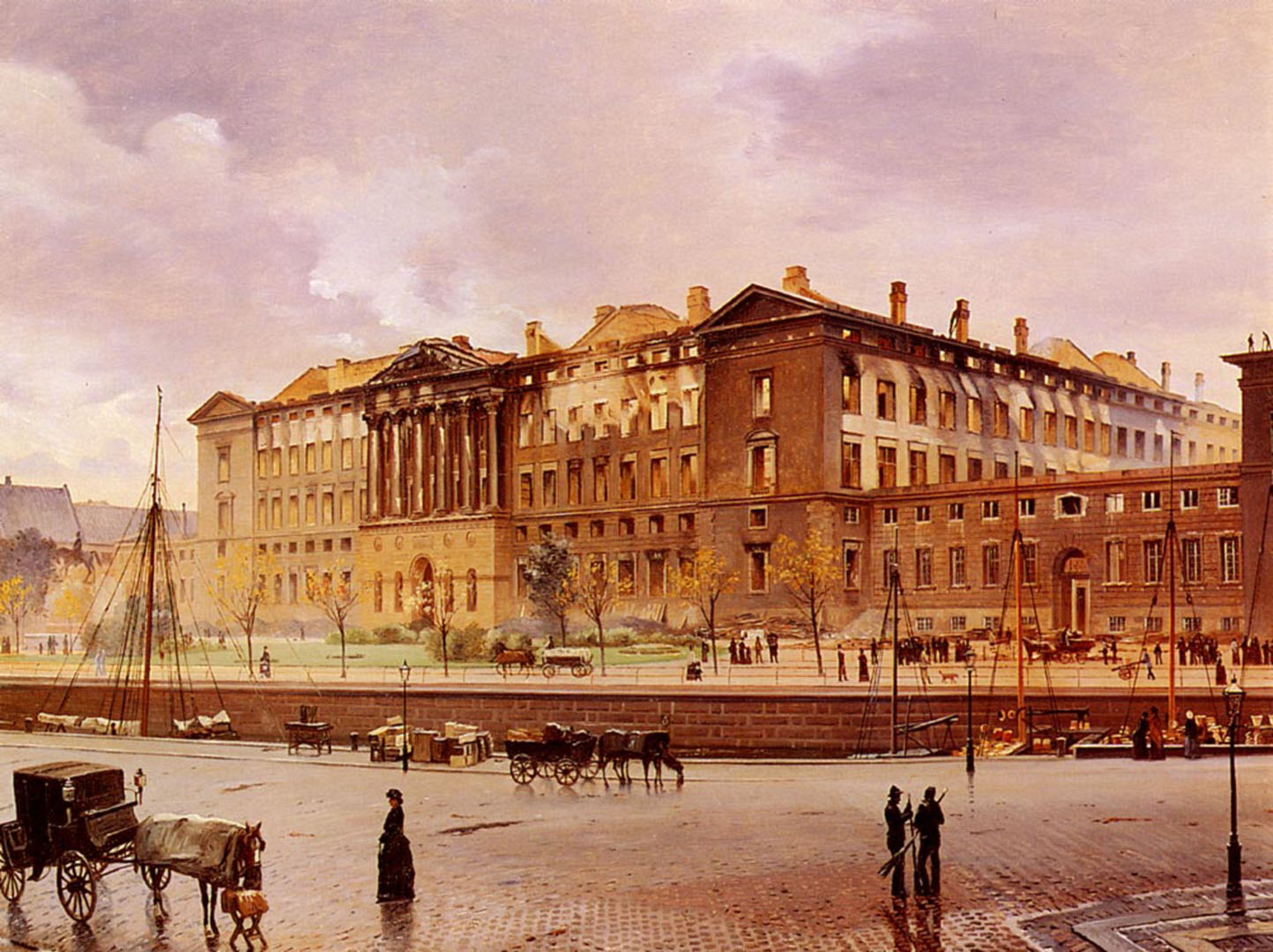 Christiansborg Castle After The Fire