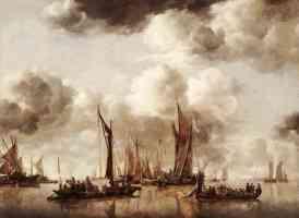 dutch yacht firing a salvo