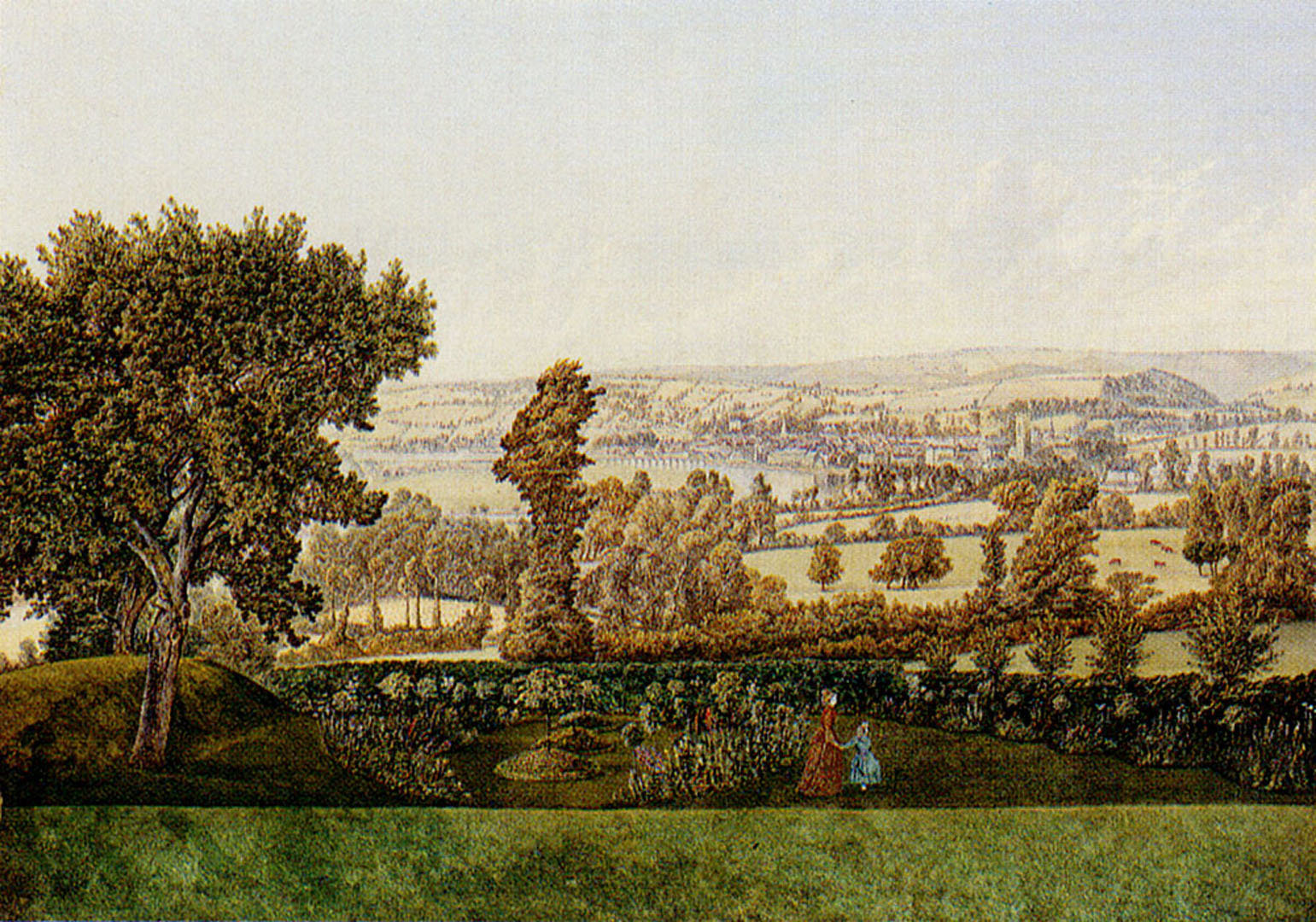 Garden Landscape In The West Country - English Art