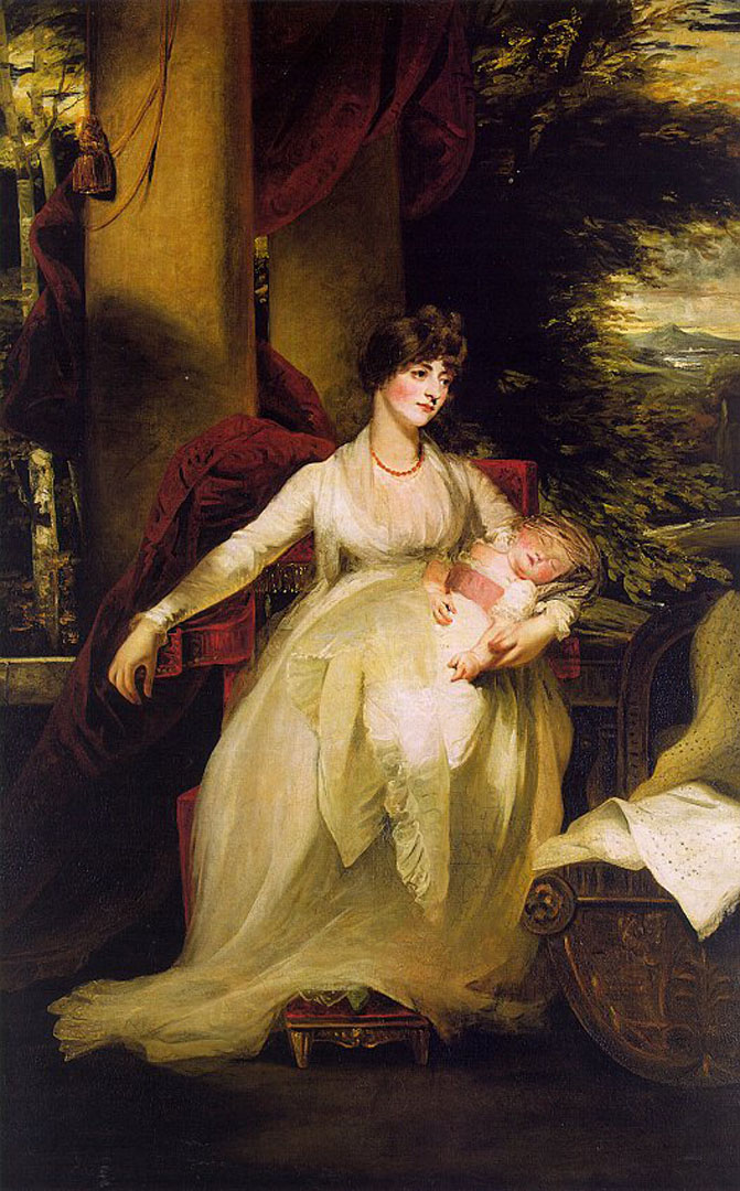 Lady Caroline Capel Holding Her Daughter Harriet