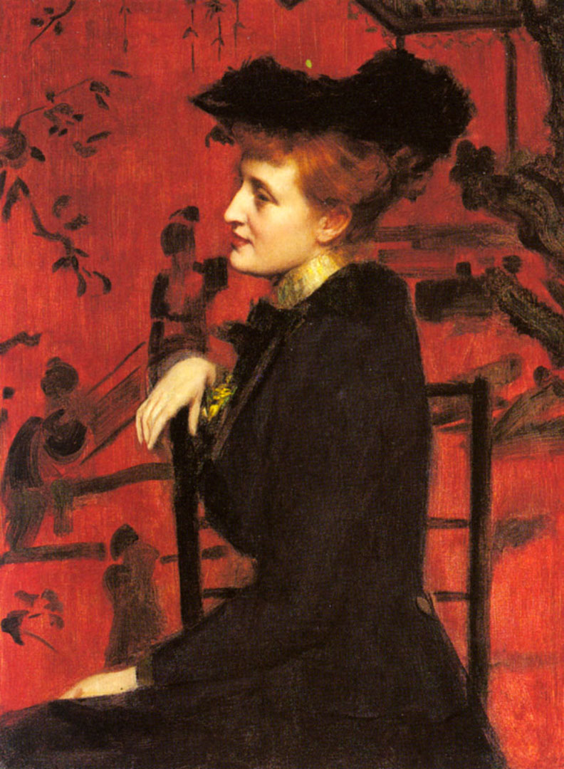 Portrait Of A Woman With A Black Hat