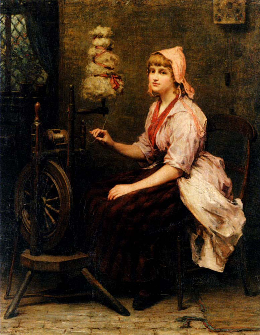 The Girl At The Spinning Wheel