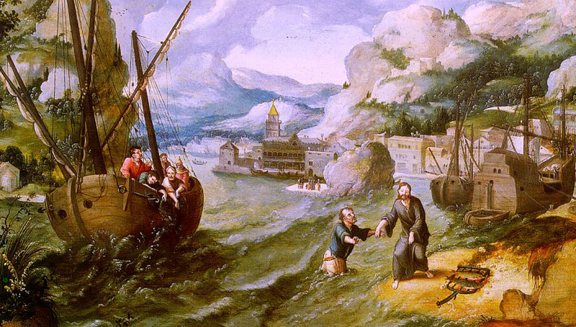 Christ With St Peter And The Disciples On The Sea Of Galilee