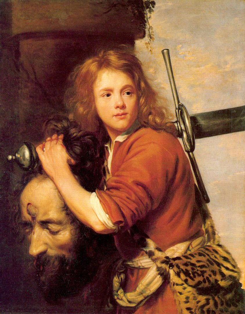 David Bearing The Head Of Goliath