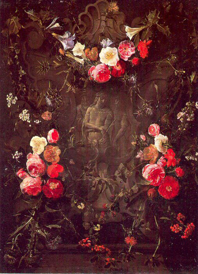 Garland Of Flowers With The Ecce Homo