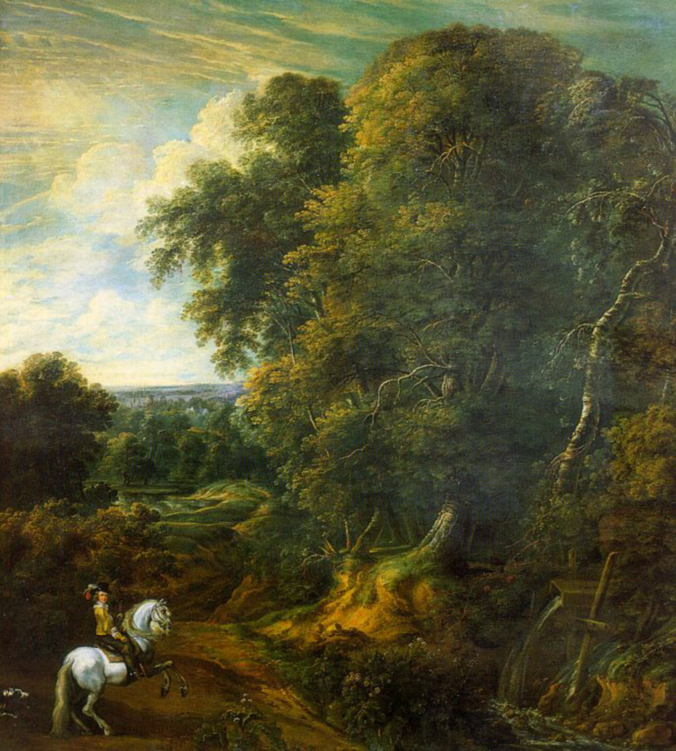 Landscape With Lone Horseman