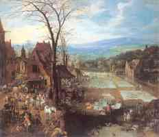 a flemish market and washing place