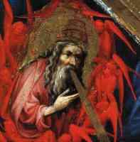 altarpiece of jacques de baerze detail of the divine breath