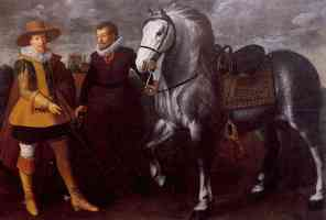 gentleman with groom and horse