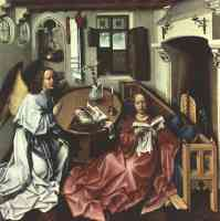 the annunciation central panel from the merode altarpiece