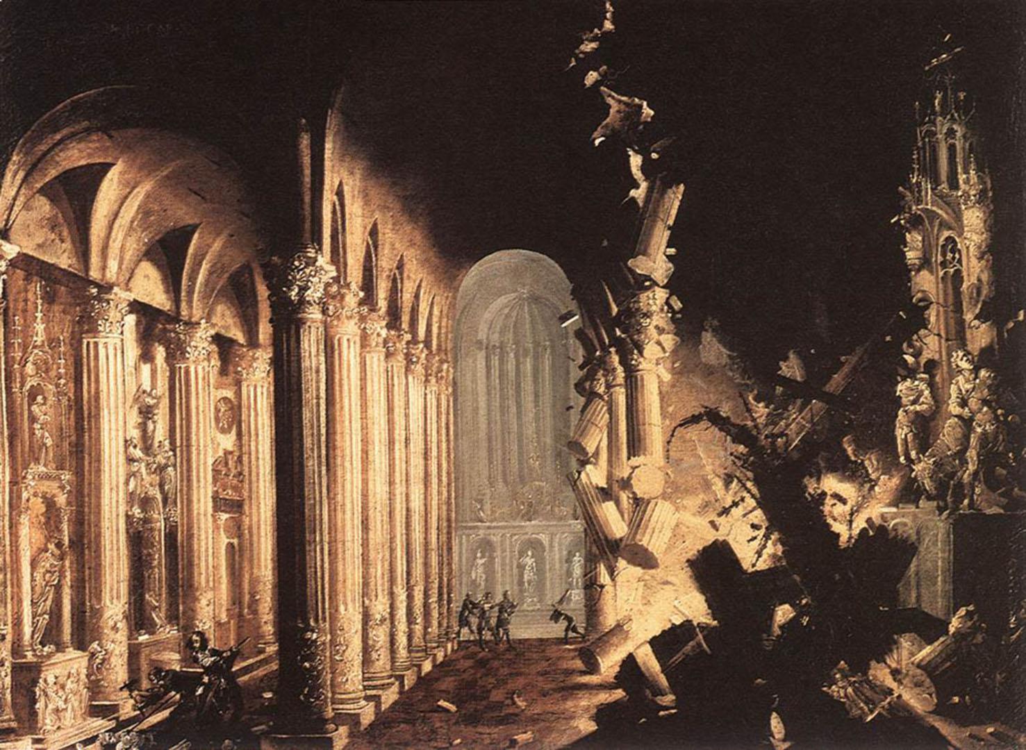 King Asa Of Juda Destroying The Idols
