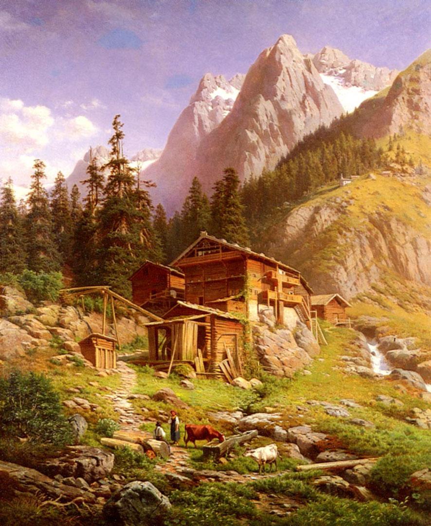 An Alpine Mill House