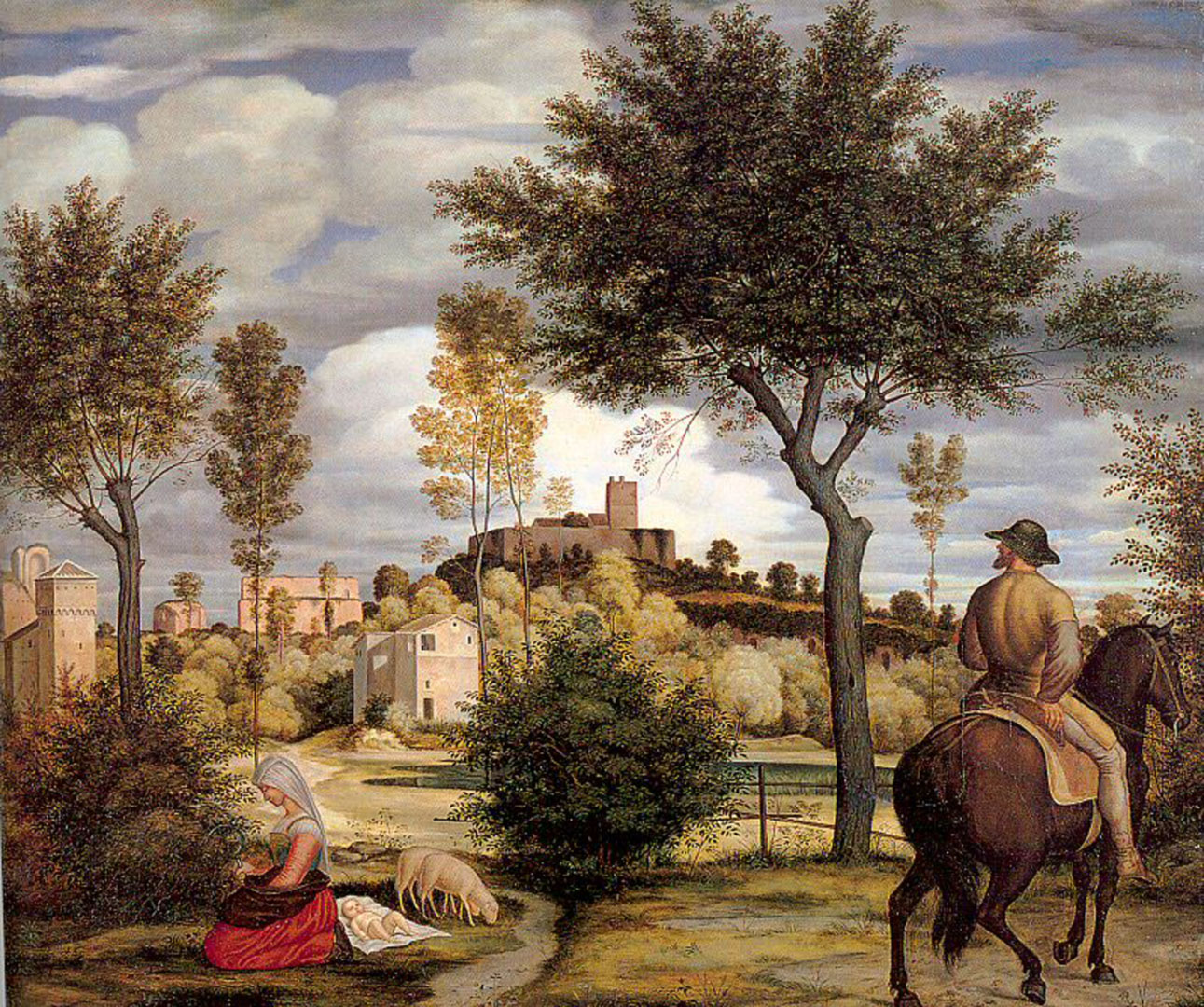 Ideal Landscape With Horseman