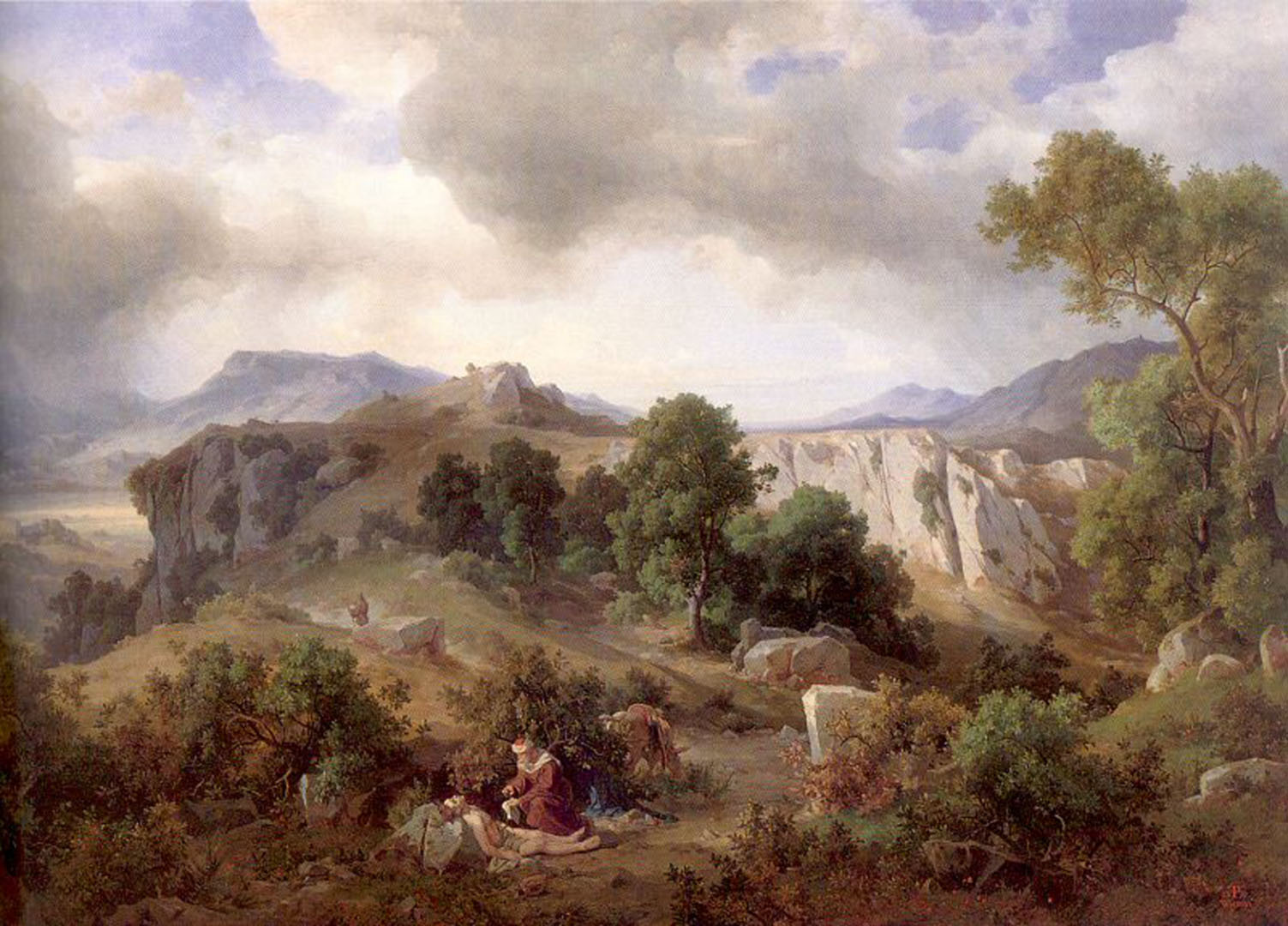 Landscape In The Sabine Hills With The Good Samaritan