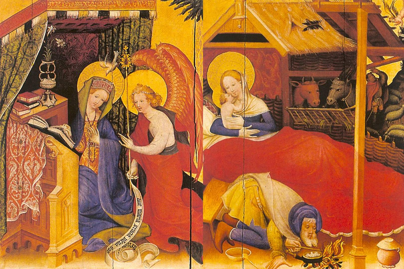 Medieval Birth Of Christ And Prayer