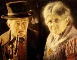 elderly swabian man and woman