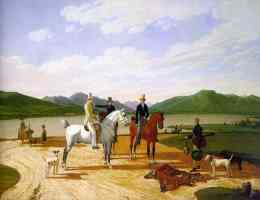 hunting party on lake tegernsee