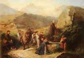 prayer in the alps