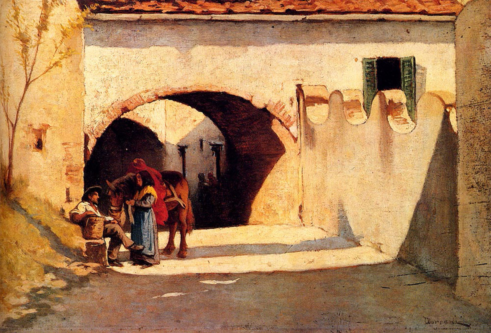Conversation On A Village Street