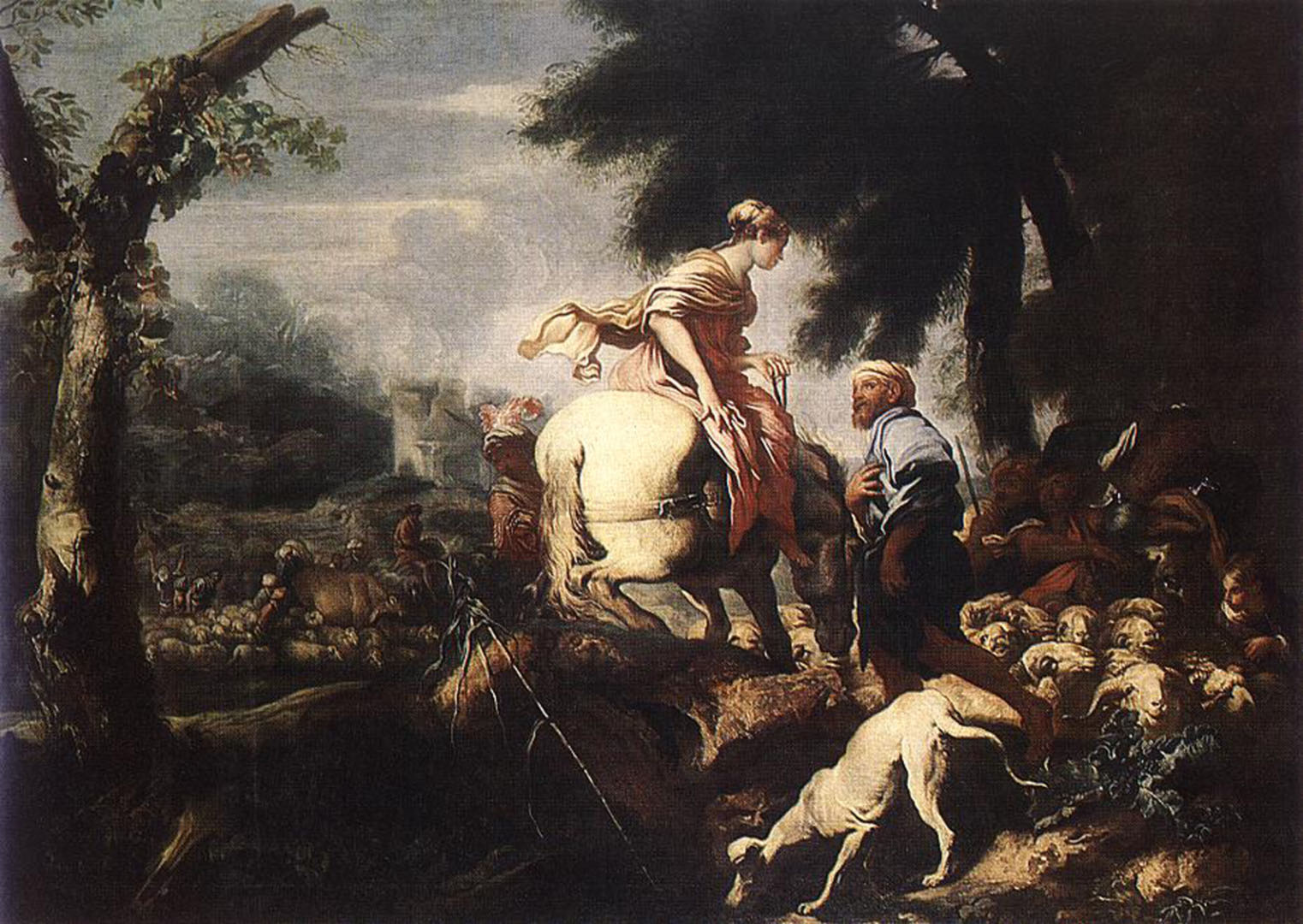 The Meeting Of Isaac And Rebecca