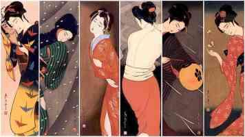 posing geisha girls collection 1