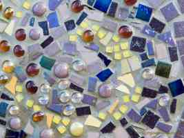 glass and ceramic mosaic