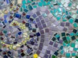 outdoor ceramic mosaic