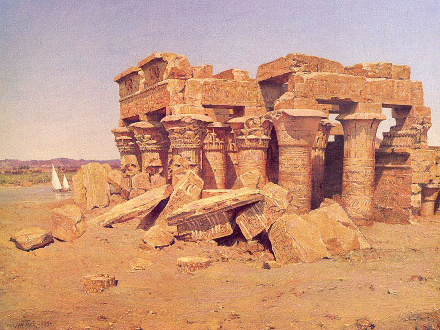 Classical Ruins By The Nile