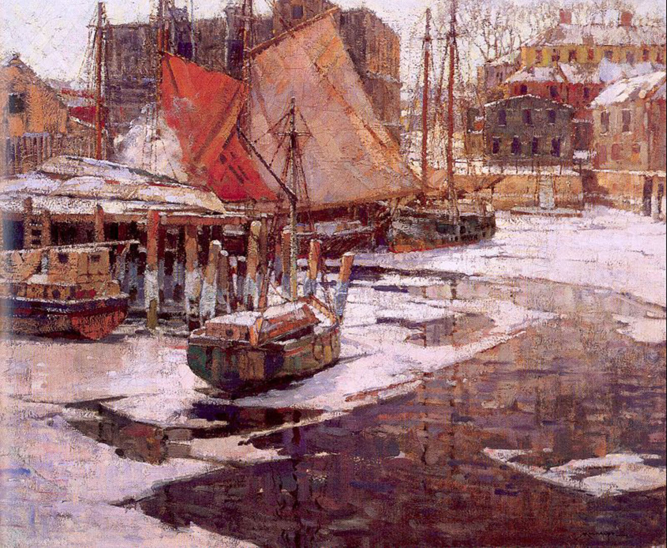 Docks In The Winter